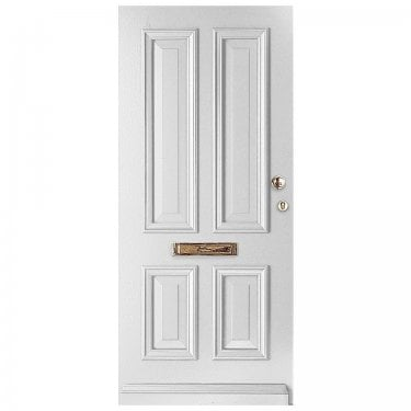 External Avondale Pure White Fully Finished Solid Door (WK1121-RAL9010)