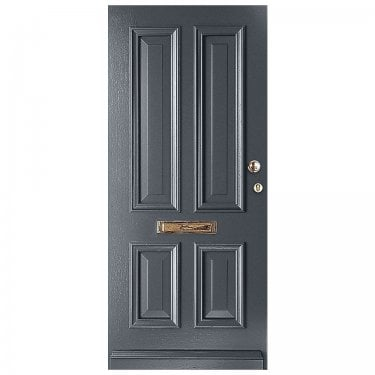 External Avondale Slate Grey Fully Finished Solid Door (WK1121-RAL7015)
