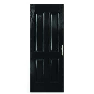 External Black Composite Carsington Door with White Frame