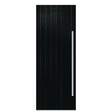 External Black Composite Ogston Door with White Frame