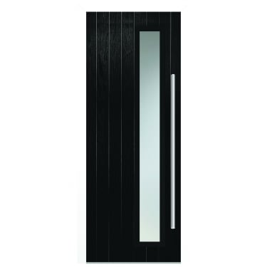 External Black Composite Shardlow Door with White Frame
