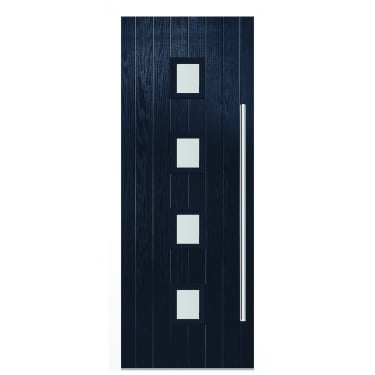 External Blue Composite Milton Door with White Frame