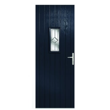 External Blue Composite Speedwell Door with White Frame