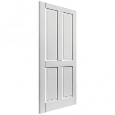 External Fully Finished White Colonial 4P Extreme Door