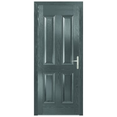 External Grey Composite Carsington Door with Grey Frame