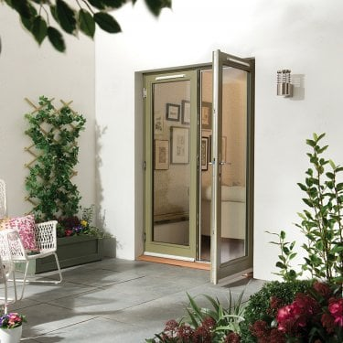 External Grey Paint Grade Darwin French Patio Door (HDFD)