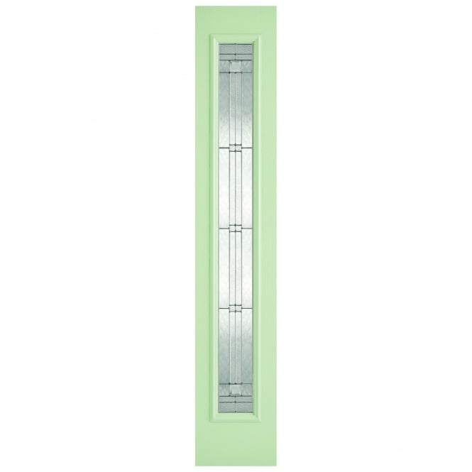 LPD External GRP Green & White Universal Sidelight with Elegant Glass