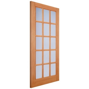 External Hardwood SA77 Door with Double Glazed Frosted Glass (M&T)