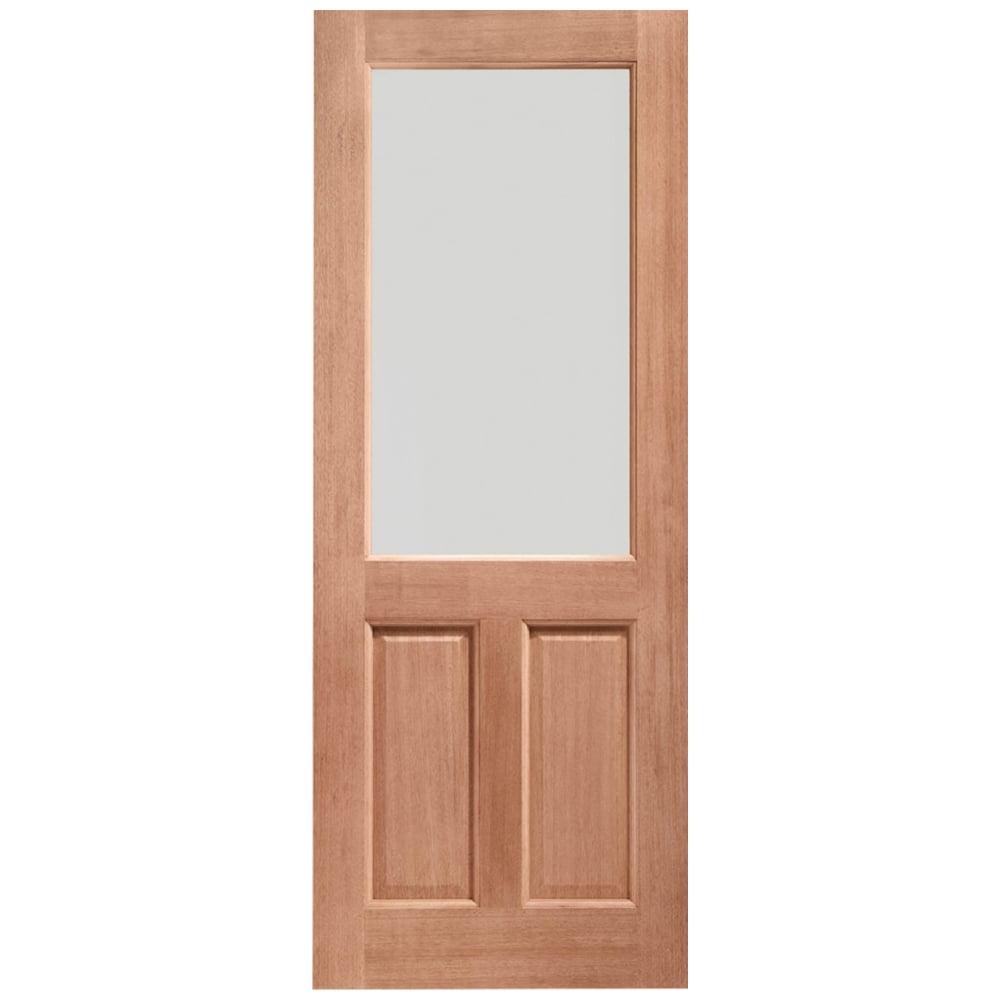 Clear Glass Dowelled Various Sizes 2XG Double Glazed External Hardwood Door