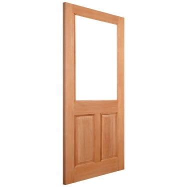 External Hardwood Unfinished 2XG 1L Unglazed Door (XG2P3)