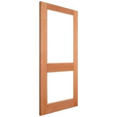 External Hardwood Unfinished 2XGG 2L Unglazed Door (MTXGG)