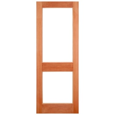 External Hardwood Unfinished 2XGG 2L Unglazed Door (XGG3)