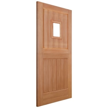 External Hardwood Unfinished Bamburgh 1L Unglazed Straight Top Stable Door (MTBARSTR)
