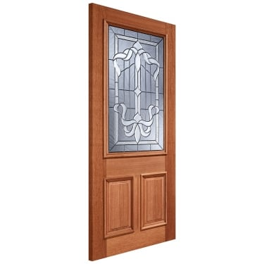 External Hardwood Unfinished Cleveland 1L Door with Double Glazed Zinc Glass (MTCLETGZ)