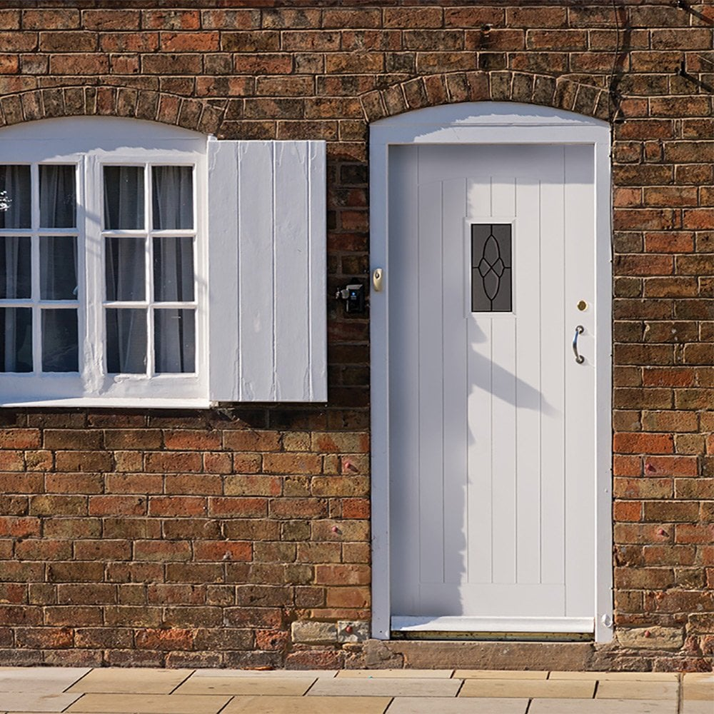 sports shoes 7d804 e89a6 External Hardwood Unfinished Cottage 1L Door with Double Glazed Leaded  Glass and Raised Mouldings (MTCOTTG)
