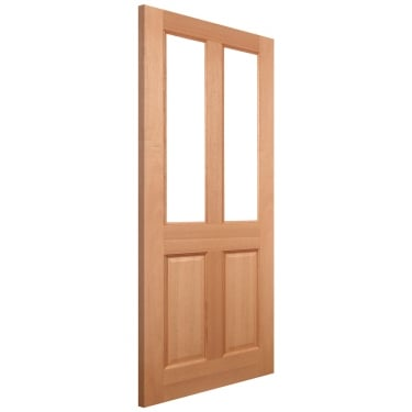 External Hardwood Unfinished Malton 2L Unglazed Door (MAL3)