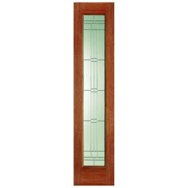 External Hardwood Unfinished Universal 1L Sidelight with Double Glazed Elegant Zinc Glass (SLELEZ)