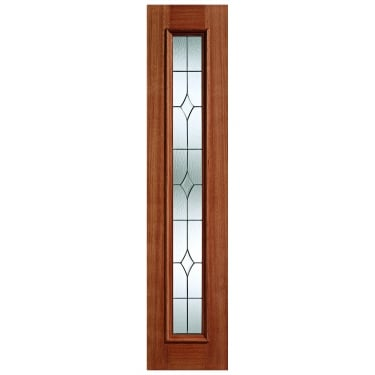 External Hardwood Unfinished Universal 1L Sidelight with Double Glazed Leaded Glass (SLL)