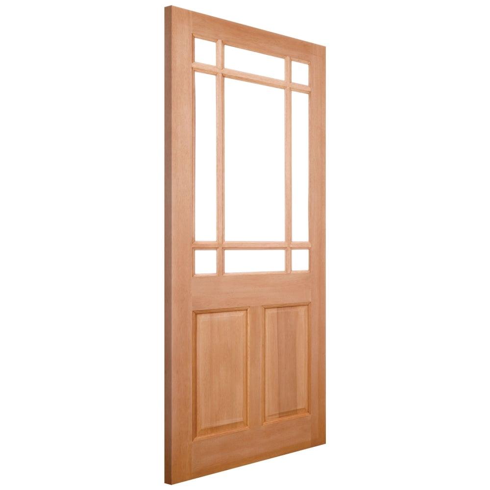 External Hardwood Unfinished Warwick 9L Unglazed Door (Mortice \u0026&; ...  sc 1 st  Leader Doors & LPD Doors External Hardwood Unfinished Warwick 9L Unglazed Door ...