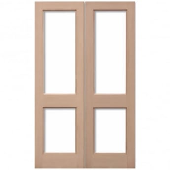 LPD Doors External Hemlock 2XGG Unglazed Pair Door