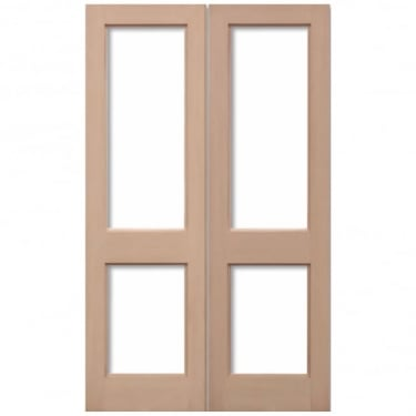External Hemlock 2XGG Unglazed Pair Door