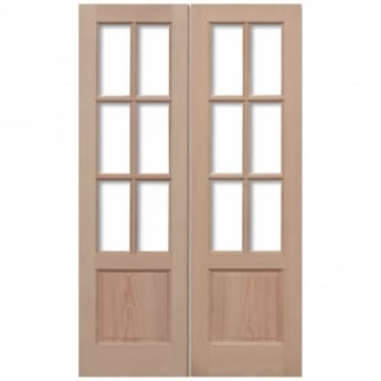 LPD Doors External Hemlock GTP 2P Unglazed Pair Door