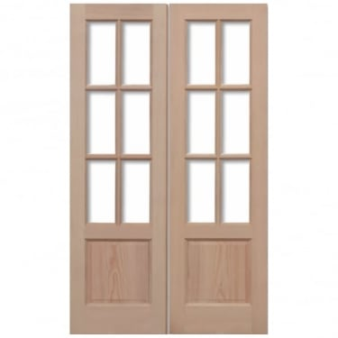 External Hemlock GTP 2P Unglazed Pair Door