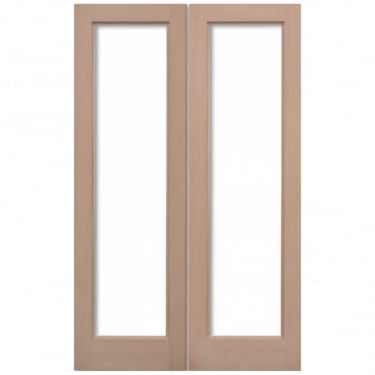 External Hemlock Pattern 20 Unglazed Pair Door