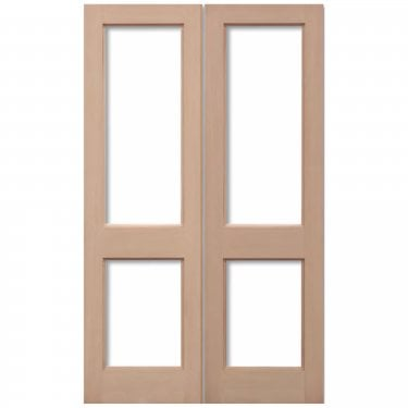 External Hemlock Unfinished 2XGG 4L Unglazed Pair Door (HPRS2XGG)