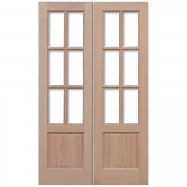 External Hemlock Unfinished GTP 12L Unglazed Pair Door (HPRSGTP2P)