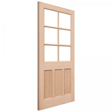 External Hemlock Unfinished KXT 6L Unglazed Door (HKXT)