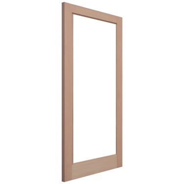 External Hemlock Unfinished Pattern 10 1L Unglazed Door (HP10)