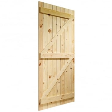 External Knotty Pine Un-finished Ledged and Braced Gate