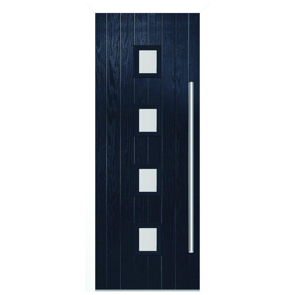 LPD External Blue Pre-Finished Milton Glazed Unglazed Door