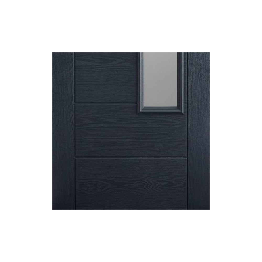 new styles e9654 cd02b External Newbury Grey Fully Finished 1L GRP Door with Double Glazed Frosted  Glass (GRPNEWGRE)