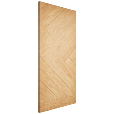 External Oak Unfinished Chevron Warmerdoor (OWDCHEV)
