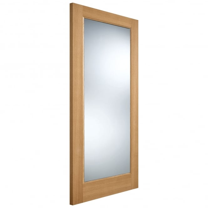 LPD External Oak Unfinished Pattern 10 Part L Warmerdoor with Clear Glass