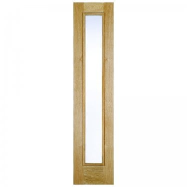 External Oak Unfinished Universal 1L Sidelight with Double Glazed Obscure Glass (OSLFROSTED)