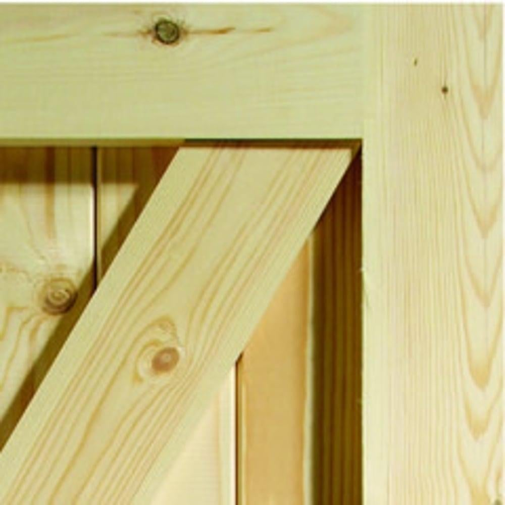 low priced 5e726 e6615 External Pine Unfinished Framed, Ledged & Braced Gate (FLB)