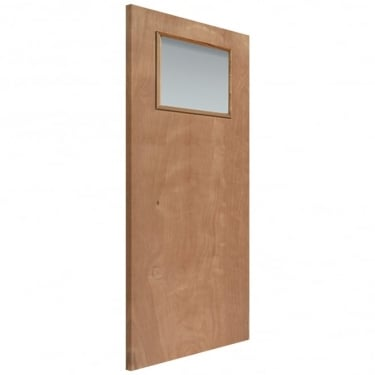 External Plywood Unfinished Paint Grade 1L Flush Unglazed JET2 Door (JET2)
