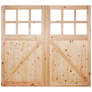 External Redwood Unfinished Garage Door (RGAR301)