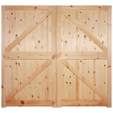 External Redwood Unfinished Garage Door (RGARFLB)