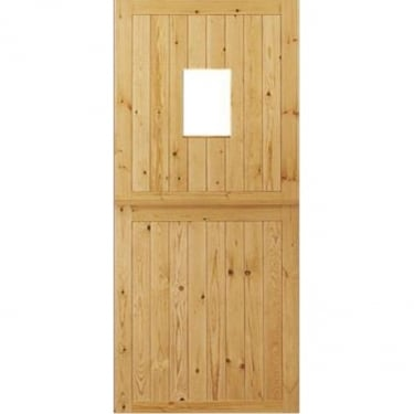 External Redwood Unfinished Stable 2P 1L Unglazed Door (ESD)