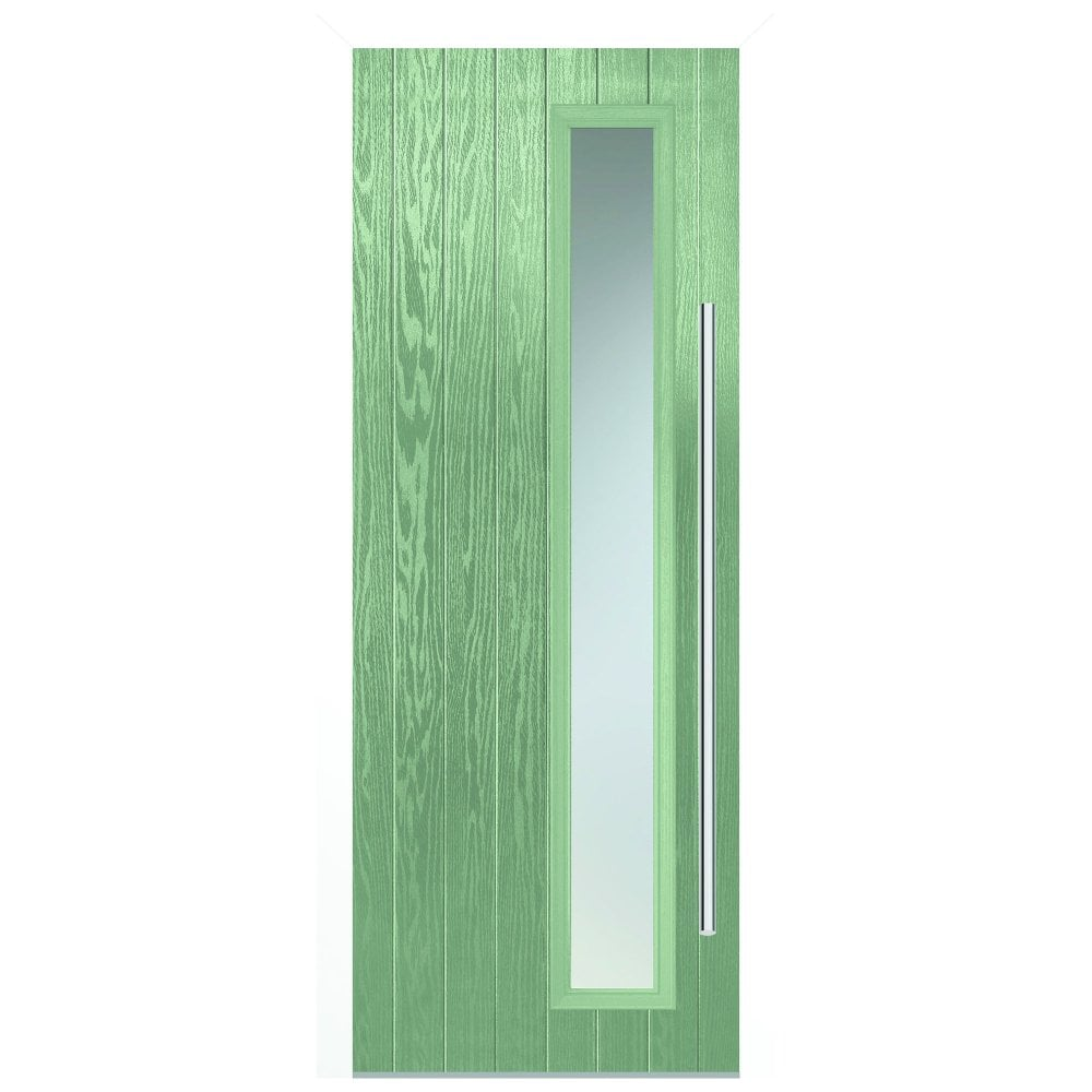 sale retailer f56bb 415c7 External Shardlow Chartwell Fully Finished 1L Composite Door Set with  Double Glazed Satin Glass (SHACHA)