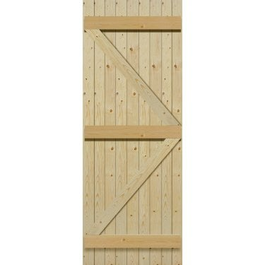 External Softwood Unfinished 9P Boarded Ledged & Braced Gate (PLB6)