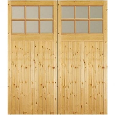 External Timber Side Hung GTG Factory Glazed Garage Door