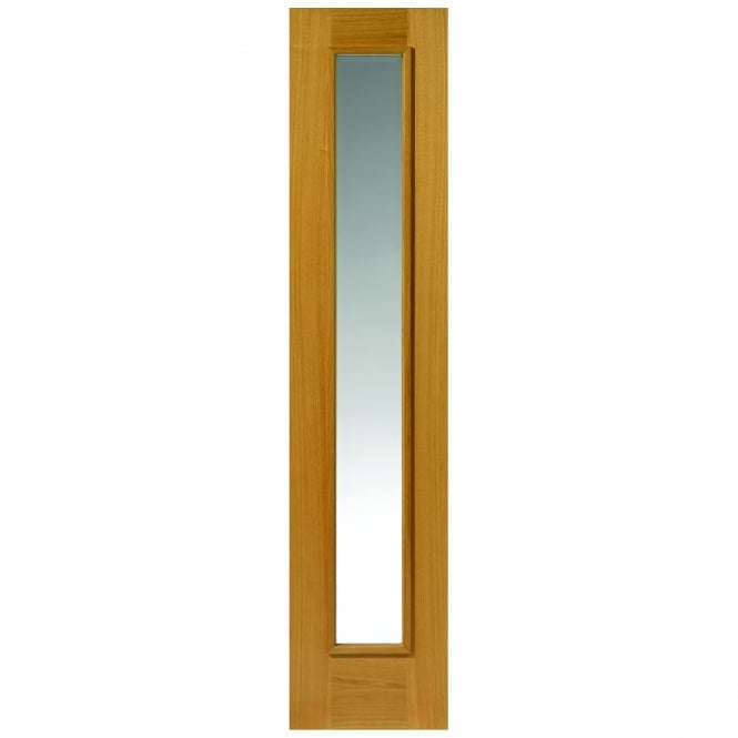 JB Kind External Un-Finished Oak Therm-L Rhone Sidelight With Clear Glass