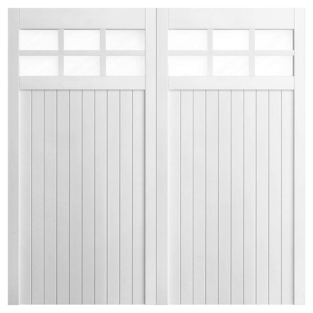 Garage Door Lights Wont Turn On: Tricoya Core White Painted 6 Light Glazed Garage Door