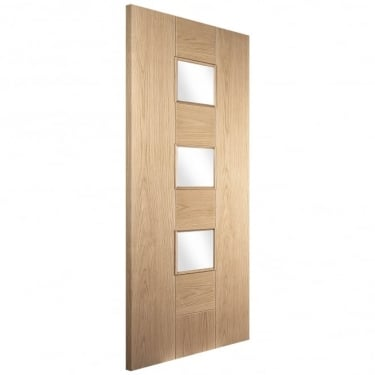 External White Oak Knightsbridge Pablo Obscure Glass Door