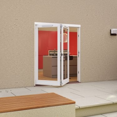 External White Paint Grade Darwin Sliding Folding Patio Door (HDAR)